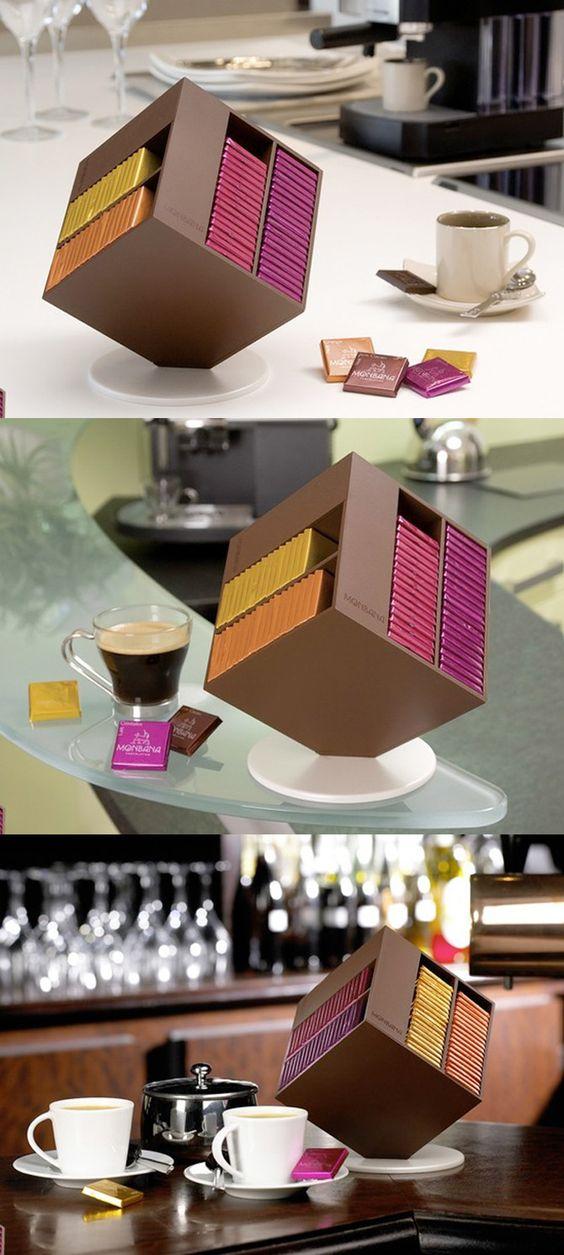 Packaging cioccolato cubo