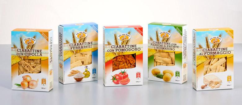 packaging alimentare linea ciabattine solo cose buone