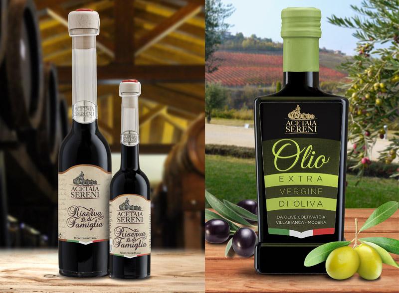 etichetta olio extra vergine di oliva sereni